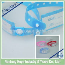 Disposable cheap medical id bracelet