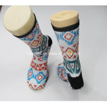 2016 nouvelles chaussettes imprimées par sublimation personnalisé