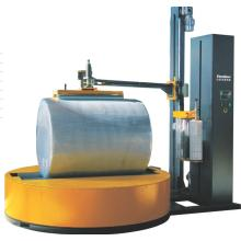Roller reel type film wrapping machine