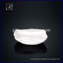 Usine de porcelaine P & T, soucoupe en céramique, plats de soupe de soja pour usage hôtelier