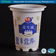 Taza de plástico impreso (blanco lechoso)