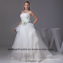 New Arrival Wedding Dress Robe Organza Lace Beading
