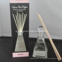 8 Rattan Sticks Decorativo Rose Aroma Reed Difusor