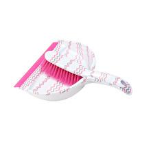 Dustpan de pouco peso ajustado da vassoura da limpeza plástica mini com grupo de escova