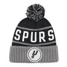 Nouveau Bonnet en maille tricoté d'hiver avec broderie tissée