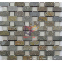 Rustic Style Stone Mix Matt Glass Mosaic Tiles (CS232)