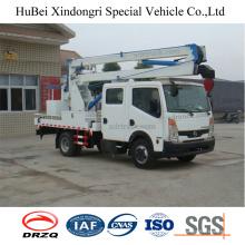 Работа платформы 16м Nissan грузовик антенной с крючком