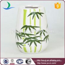 YSb40063-06-th accessoires de salle de bains porte-brosse à dents en céramique avec design en bambou