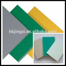 Fabricação de chapas rígidas de PVC