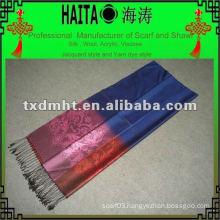 autumn color scarf 100%silk