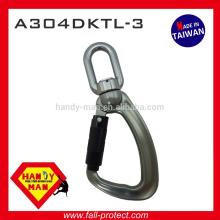 Oeil pivotant en alliage d'aluminium 25kN Indicateur de charge Snap Triple Lock Hook