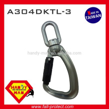 Aluminum Alloy swivel eye 25kN Load Indicator Snap Triple Lock Hook