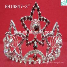 A beleza da coroa da estrela dinâmica, coroa da competição de beleza