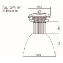 Industrial led 150W estándar de luz de gran altura