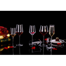 Hand blown high end crystal red wine glass