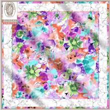Impreso imágenes de patrones de corto cuello bufandas para las mujeres