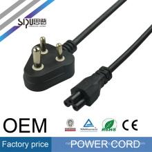 Cable de alimentación del enchufe de la INDIA de la alta calidad de SIPU para las cuerdas de alimentación al por mayor de la PC con el cable de alimentación del fusible del mejor precio del enchufe moldeado