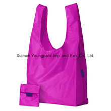 Wholesale Reusable Fold up Nylon Shopping Tote Carry Gift Bags