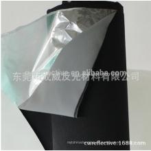 tela reflectante de alta luz 3m plata 3m m / tela reflectante de poliéster estilo piel de cordero azul