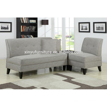 French Grey Cotton&Linen fabric armless sofa XYN2046