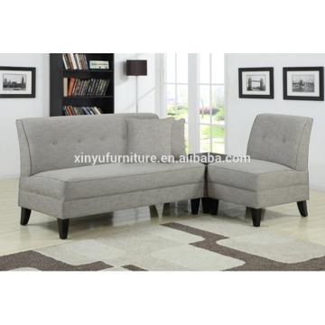 French Grey Cotton&Linen fabric armless sofa XYN2046
