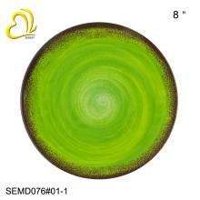 8-дюймовый круглой формы дешевые меламин пластины