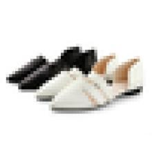 Fashion Ladies Pointed Toe Chaussure coréenne Dernier style Robe plate pour femme