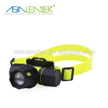 silicone aluminum dive headlamp with 1led