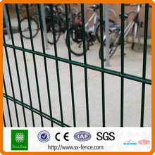 Welded metal double fence panel
