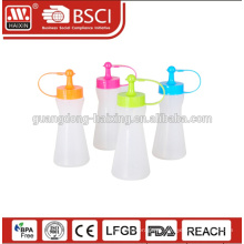Garrafa de molho de plástico de série do BPA comida grátis por atacado