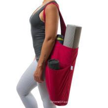 Wholesale Custom Large Capacity Printed Canvas Sling Yoga Mat Bags for Large Yoga Mats