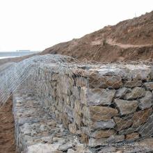 Rockfall Protección PVC Coate Gabion Acero Piedra Malla