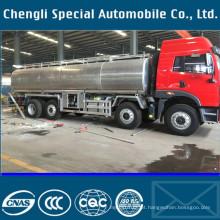 8 x 4 FAW 35000liters leite transporte caminhão tanque