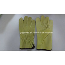 Full Leather Driver Glove-Safety Glove-Leather Working Glove
