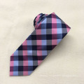 Custom Formal Promotional Silk Plaid Jacquard Men Wholesale Necktie