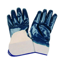 Jersey Liner Glove with Nitrile Coated Open Back Safety Cuff