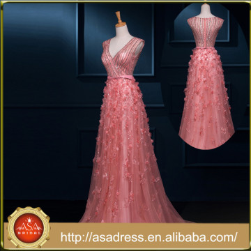 RASA-08 Princess Pink Evening Dress Heavy Beaded Appliqued Soft A-Line New Products on the Russian Market Party Gown