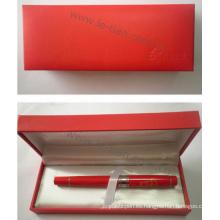 Pluma del regalo del color rojo de China Style con la caja de Gfit (LT-C326)