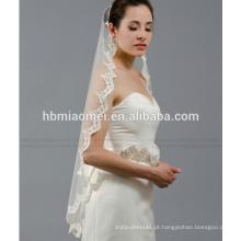 Laço de casamento véu longo retro sentimentos noiva cabeça de fios Europa e nos Estados Unidos sweet lace bridal véu nupcial do casamento