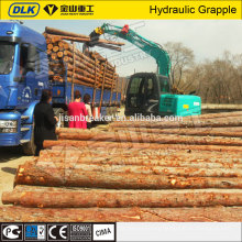 Excavator 360 degree rotating hydraulic wood grapple for 20ton excavator