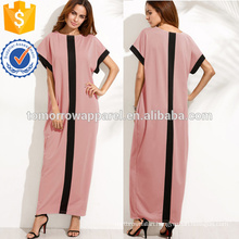 Contrast Panel Cocoon Full Length Dress Manufacture Wholesale Fashion Women Apparel (TA3182D)