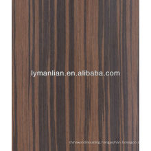 black zebrawood veneer used for decoration