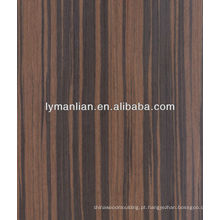 folheado zebrawood preto usado para decoração