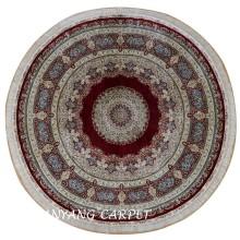 8'x8' Round Oriental  Tabriz Persian Silk Rug