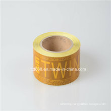 Yellow Mirco Prismatic Reflective Tape with Logo Printing for Truck