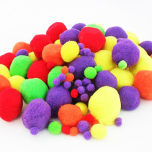 party decorative kids wholesale Bright colour fur fuzzy pompom kit