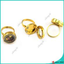 Flutuante ímãs Locket anel de ouro cor jóias (lr16041207)