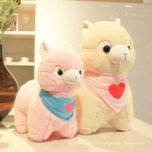 Cadeau de noël jouets bon marché décoration de fête d'enfants jouet en peluche à l'alpaga à peluche géant