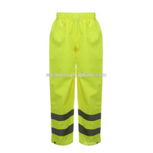 EN ISO 20471:2013 100% polyester 300D oxford fabric with PU or PVC coating pants
