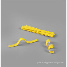 Bande de clip en plastique populaire à double fil torsadé